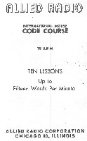 Allied Radio documentation provided with code records